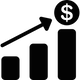 image of a graph and dollar sign showing figures going up